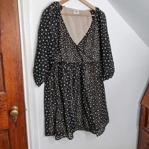 ARITIZA Sunday Best Floral Babydoll Black Dress